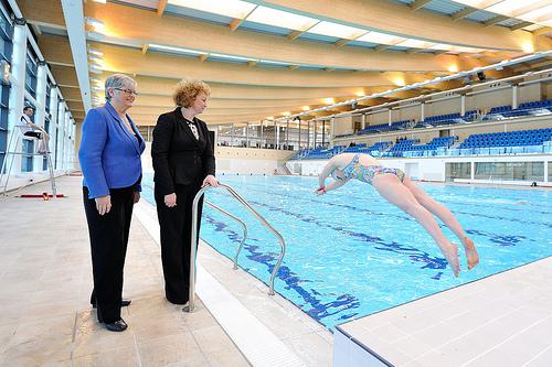 Opening of aurora sports complex in bangor brian wilson - Bangor swimming pool northern ireland ...